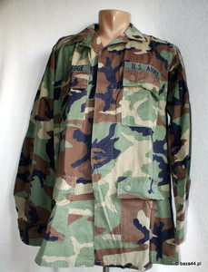 Oryg bluza US ARMY woodland naszywki Medium X-Long