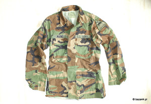 Oryg. bluza US ARMY woodland MEDIUM LONG naszywka
